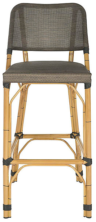 Safavieh Deltana Indoor/Outdoor Stacking Bar Stool, Brown, large