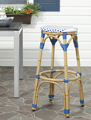 Safavieh Kipnuk Indoor/Outdoor Stacking Bar Stool, , rollover