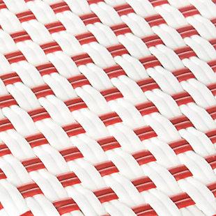 Safavieh Kipnuk Indoor/Outdoor Stacking Bar Stool, Red/Brown/White, large