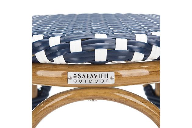 Safavieh Kipnuk Indoor/Outdoor Stacking Bar Stool, Blue/White, large