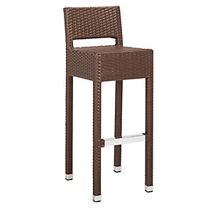 Safavieh Landry Indoor/Outdoor Bar Stool, Brown, large