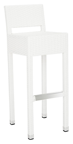 Safavieh Landry Indoor/Outdoor Bar Stool, White, large