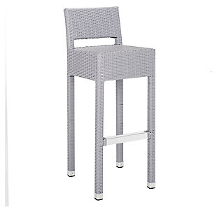 Safavieh Landry Indoor/Outdoor Bar Stool, Gray, large