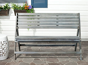 Safavieh Luca Folding Bench, , rollover