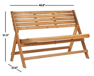 Safavieh Luca Folding Bench, Brown, large