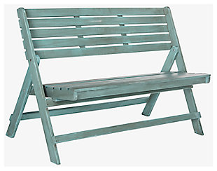 Safavieh Luca Folding Bench, Blue, large