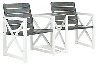 Safavieh Jovanna 2 Seat Bench, White/Gray, large