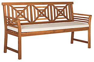 Safavieh Del Mar 3 Seat Bench, , large