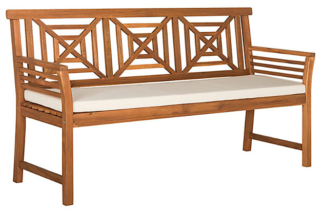 Del Mar Outdoor 3 Seat Bench Ashley, Ashley Furniture Delmar