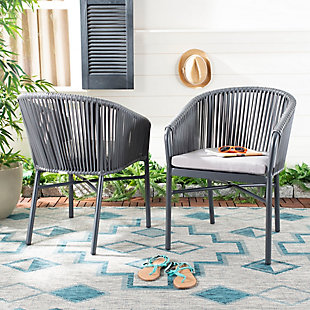 Safavieh Matteo Stackable Rope Chair (Set of 2), , rollover