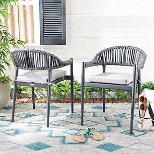 Safavieh Greer Stackable Rope Chair (Set of 2), , rollover