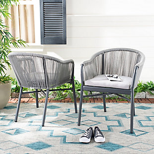 Safavieh Nicolo Rope Chair (Set of 2), , rollover