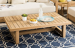 Safavieh Montford Teak Coffee Table, , rollover