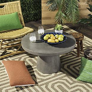 Safavieh Delfia Indoor/Outdoor Modern Concrete Coffee Table, , rollover