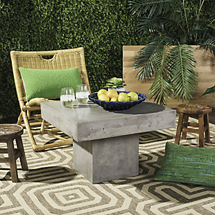 Safavieh Tallen Indoor/Outdoor Modern Concrete Coffee Table, , rollover