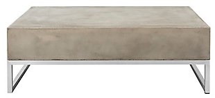 Safavieh Eartha Indoor/Outdoor Modern Concrete Coffee Table, , large