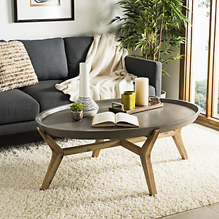 Safavieh Hadwin Indoor/Outdoor Modern Concrete Oval Coffee Table, , rollover