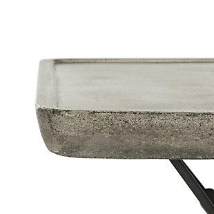 Safavieh Delartin Indoor/Outdoor Modern Concrete Coffee Table, , large