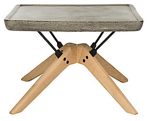 Safavieh Delartin Indoor/Outdoor Modern Concrete Coffee Table, , large