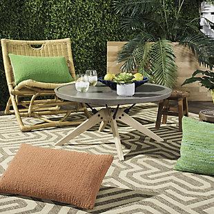 Safavieh Bryson Indoor/Outdoor Modern Concrete Round Coffee Table, , rollover