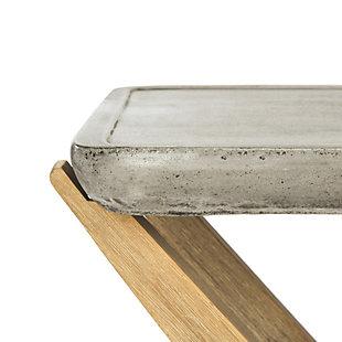 Safavieh Babette Indoor/Outdoor Modern Concrete Console, , large