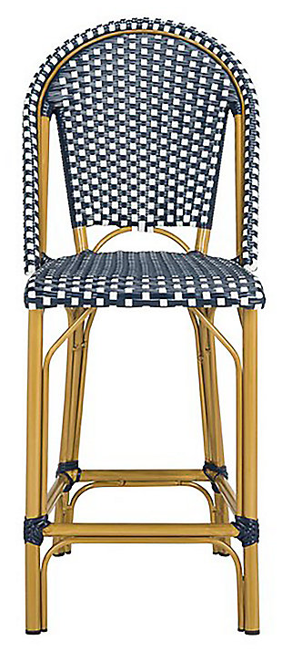 Safavieh Gresley Indoor/Outdoor French Bistro Counter Stool, Blue/White, large