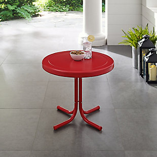 Crosley Griffith Side Table, Bright Red, rollover