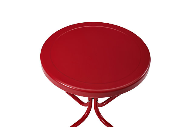 Crosley Griffith Side Table, Bright Red, large