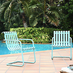 Crosley Gracie 2-Piece Stainless Steel Chair Set, , rollover