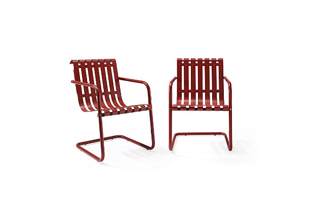 Crosley Gracie 2-Piece Stainless Steel Chair Set, , large
