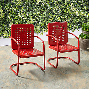 Crosley Bates 2-Piece Chair Set, Red, rollover