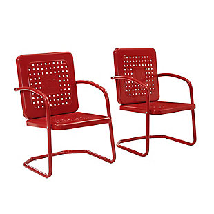 Crosley Bates 2-Piece Chair Set, Red, large