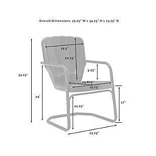 Crosley Ridgeland 2-Piece Chair Set, White, large