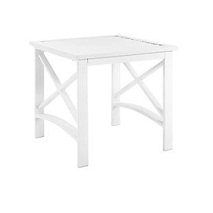 Crosley Kaplan Side Table, White, large