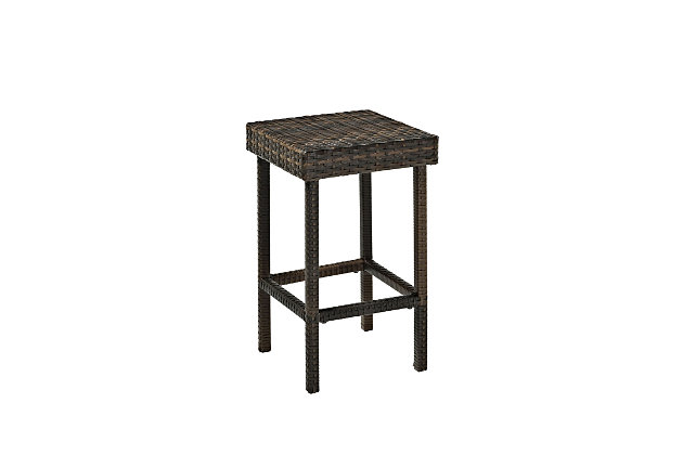 Crosley Palm Harbor 2-Piece Outdoor Counter Height Bar Stool Set, , large