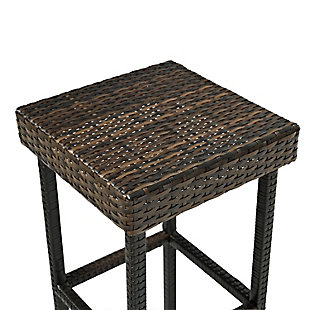 Crosley Palm Harbor 2-Piece Outdoor Counter Height Bar Stool Set, Brown, large