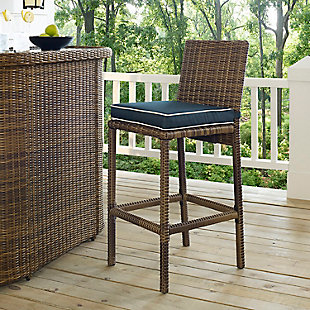 Crosley Bradenton 2-Piece Outdoor Wicker Bar Height Bar Stool Set, , rollover