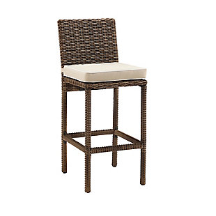 Crosley Bradenton 2-Piece Outdoor Wicker Bar Height Bar Stool Set, , large