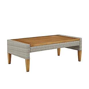 Crosley Capella Outdoor Wicker Coffee Table, , large