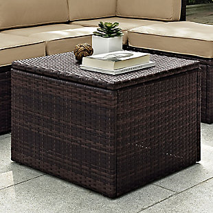 Crosley Palm Harbor Outdoor Wicker Coffee Sectional Table, , rollover