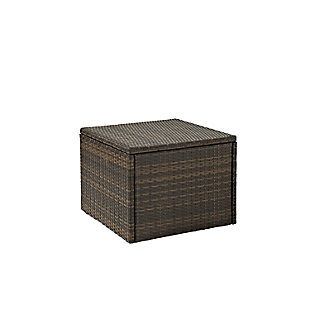 Crosley Palm Harbor Outdoor Wicker Coffee Sectional Table, , large