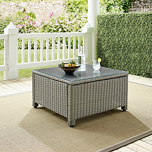 Crosley Bradenton Outdoor Wicker Sectional Coffee Table, , rollover