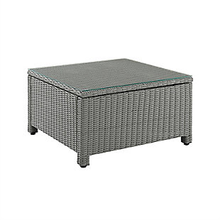 Crosley Bradenton Outdoor Wicker Sectional Coffee Table, , large