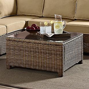 Crosley Bradenton Outdoor Wicker Sectional Coffee Table, , rollover