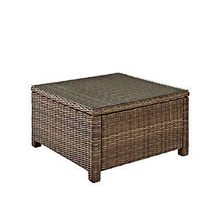 Crosley Bradenton Outdoor Wicker Sectional Coffee Table, , large