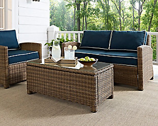 Crosley Bradenton Outdoor Wicker Coffee Table, , rollover