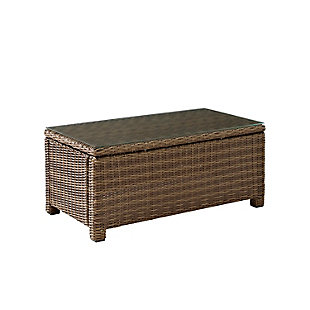 Crosley Bradenton Outdoor Wicker Coffee Table, , large