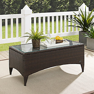 Crosley Kiawah Outdoor Wicker Coffee Table, , rollover