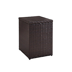 Crosley Palm Harbor Outdoor Wicker Rectangular Side Table, , large