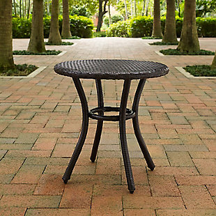 Crosley Palm Harbor Outdoor Wicker Round Side Table, , rollover